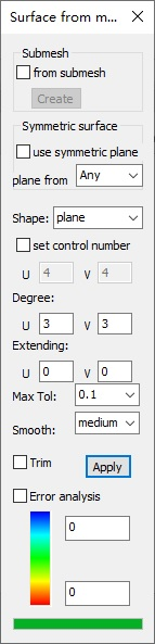 Tutorial 1 – Convert a mesh to a surface